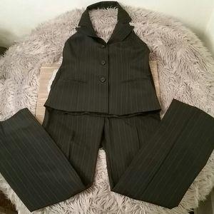 Jenne Maac 2 pc pinstriped pants & vest top,4P